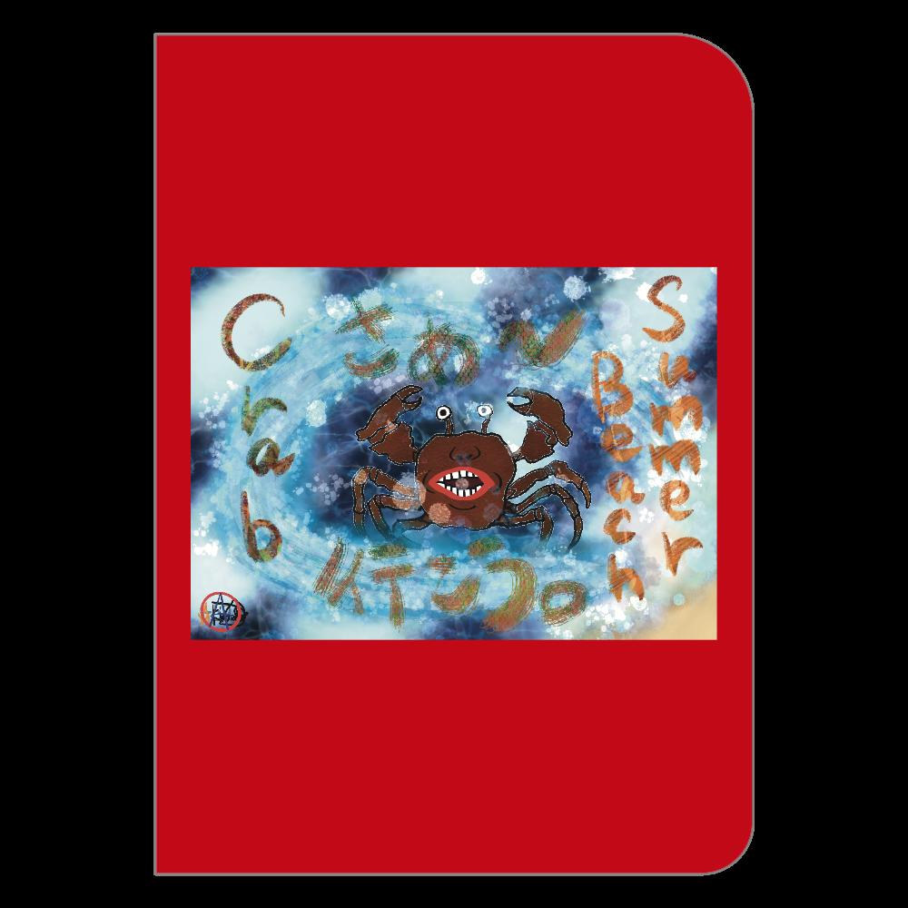 夏のビーチ「カニ」 ORILAB MARKET.Version.11 ハードカバーポケットノート