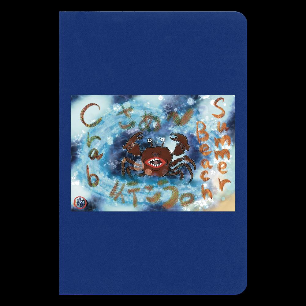 夏のビーチ「カニ」 ORILAB MARKET.Version.11 ハードカバーノート(罫線)