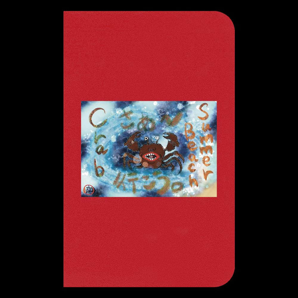 夏のビーチ「カニ」 ORILAB MARKET.Version.11 ハードカバーミニノート(罫線)