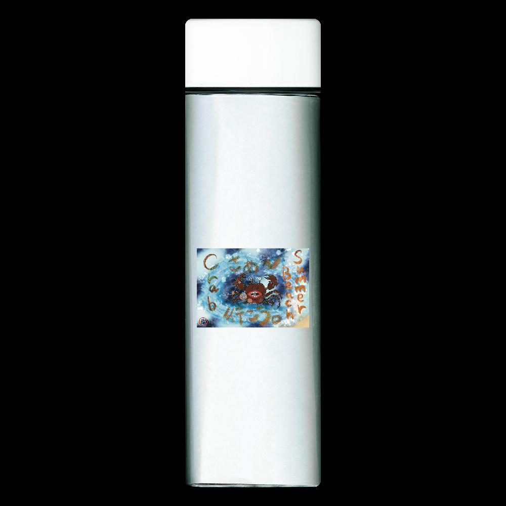 夏のビーチ「カニ」 ORILAB MARKET.Version.11 スクエアクリアボトル