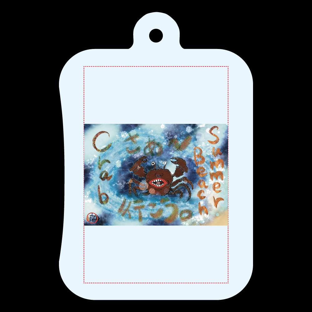 夏のビーチ「カニ」 ORILAB MARKET.Version.11 涼感スカーフ(カラビナケース付)