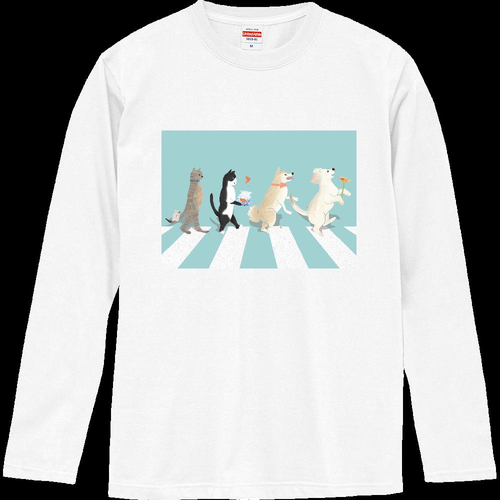 wan&nyan&chu ロングスリーブTシャツ