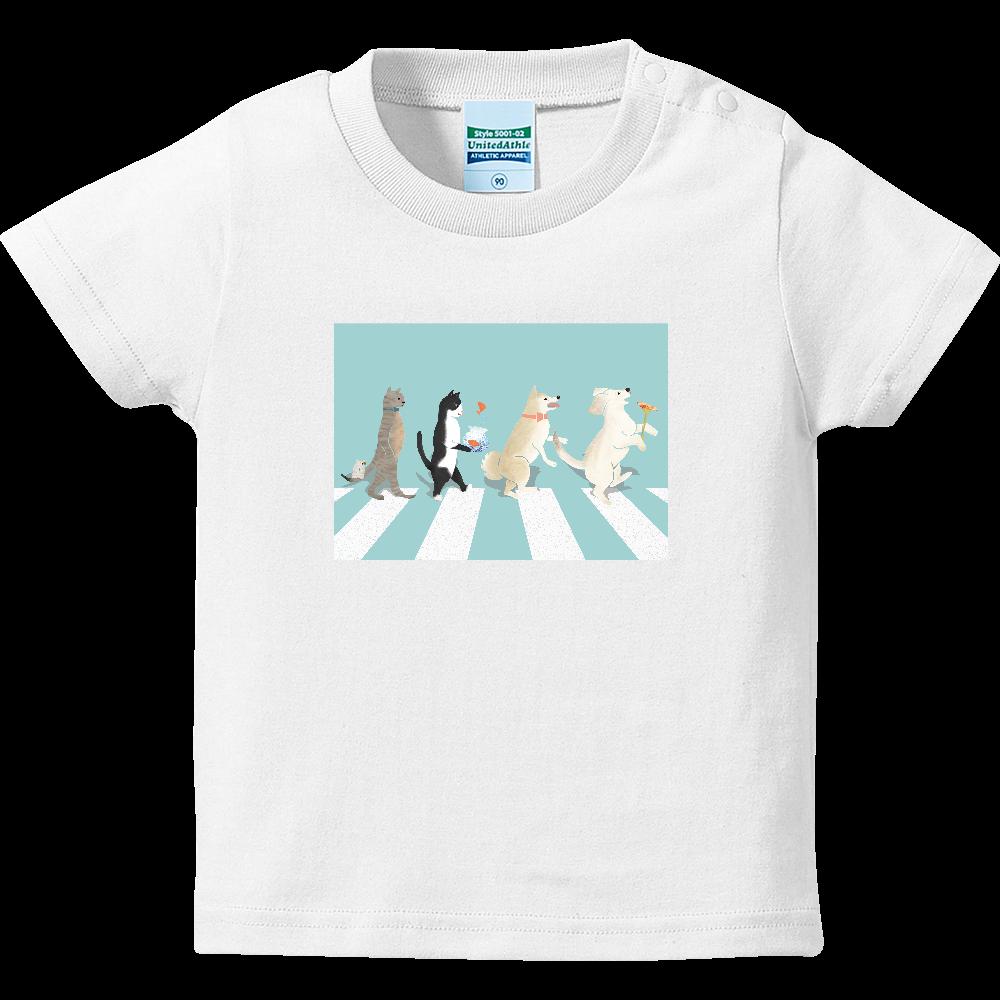 wan&nyan&chu ハイクオリティーベビーTシャツ