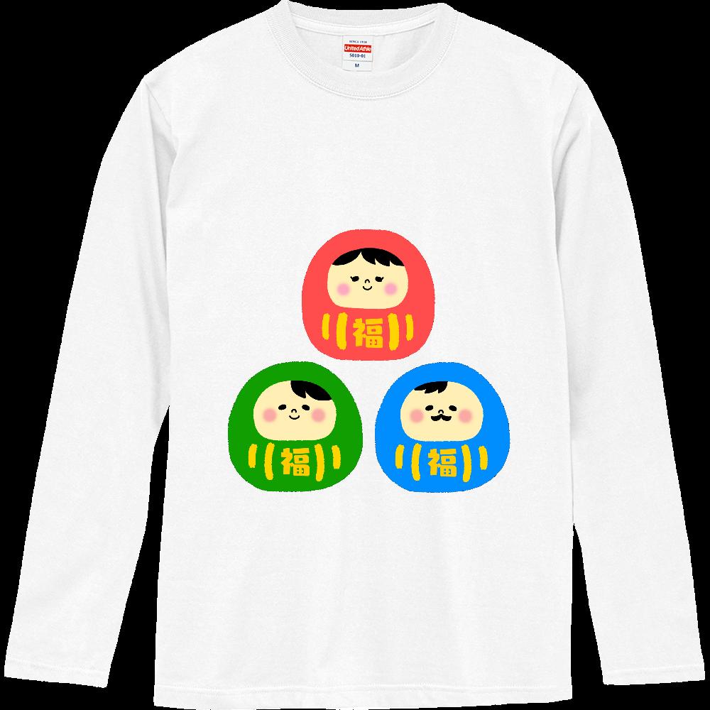 だるまさんファミリー ロングスリーブTシャツ