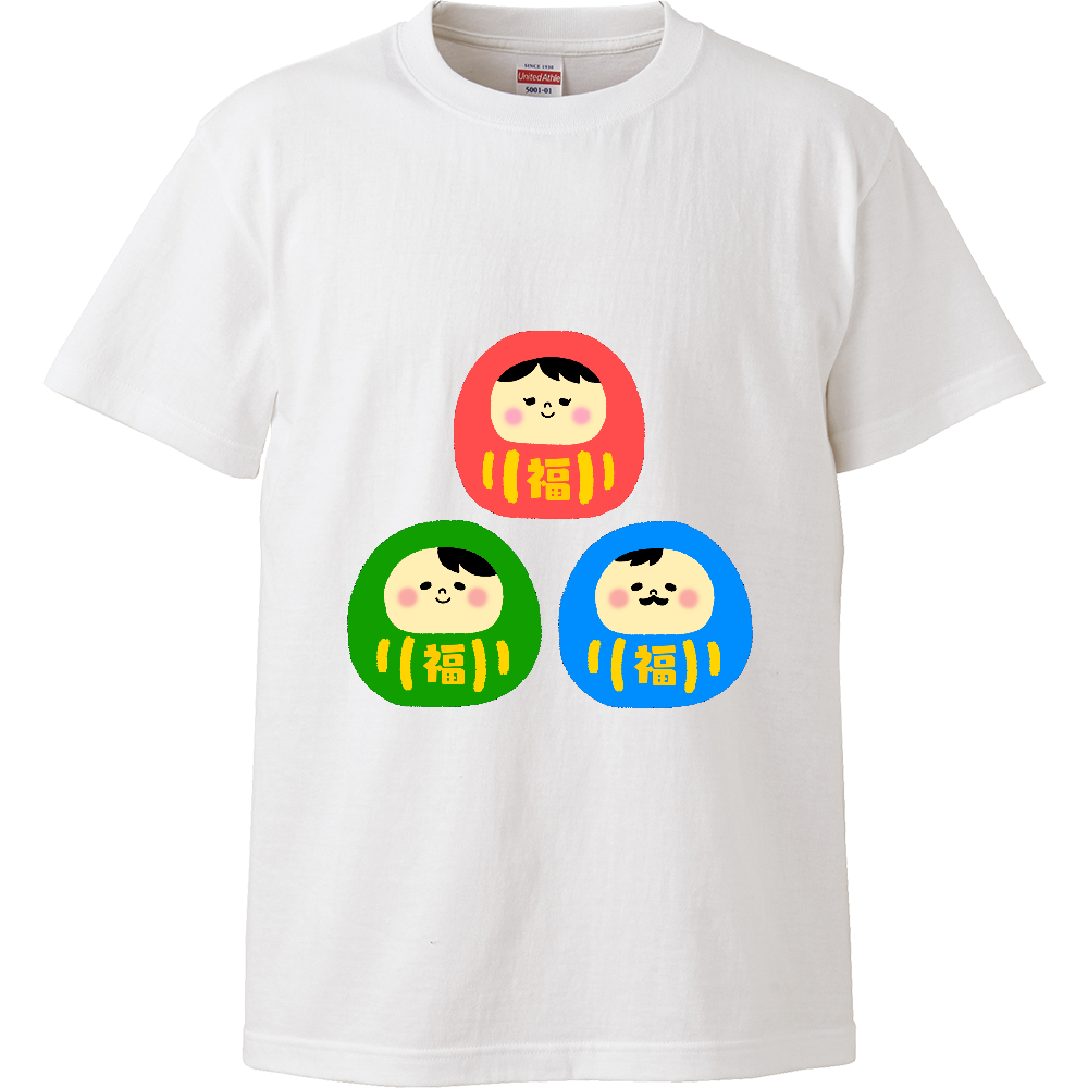 だるまさんファミリー ハイクオリティーTシャツ
