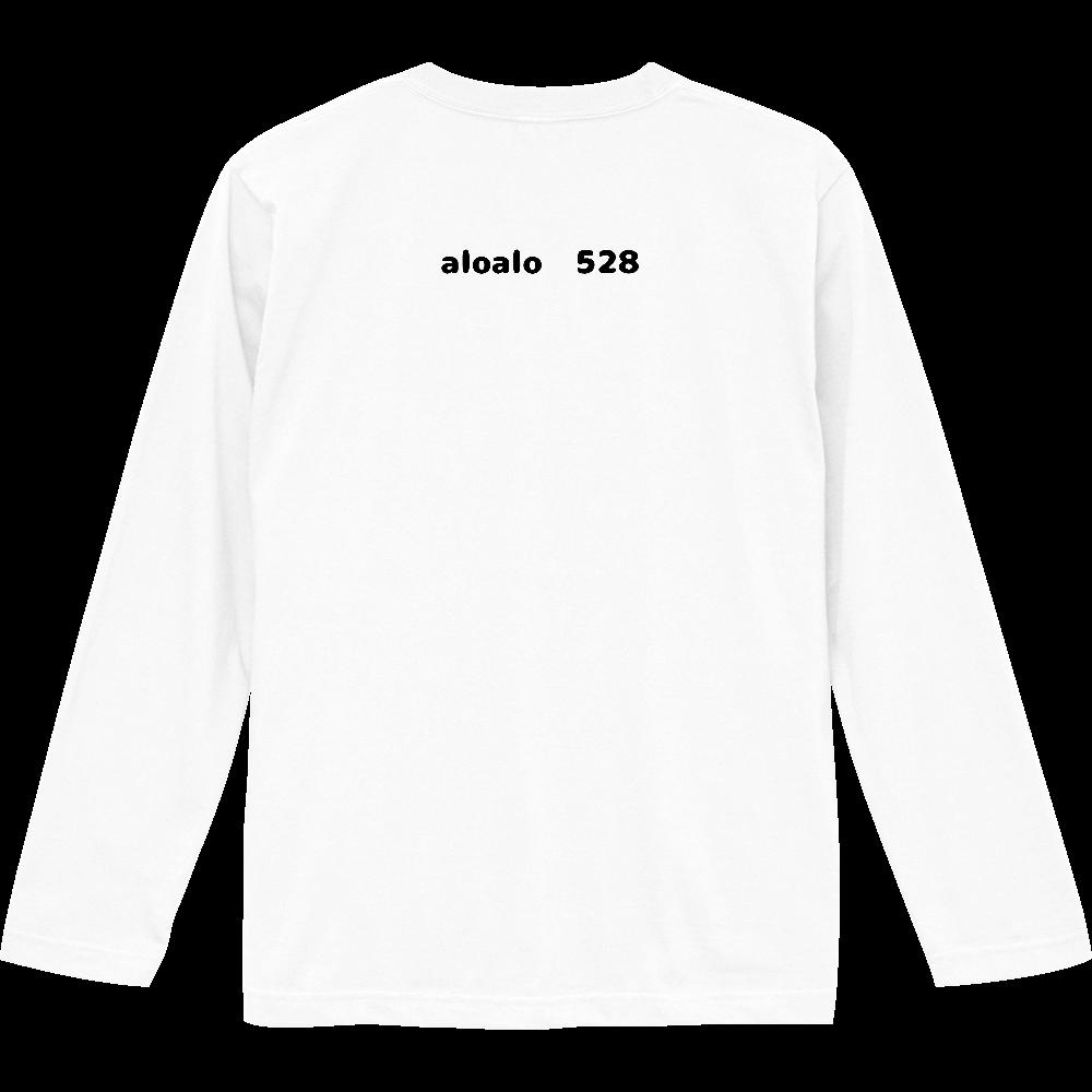 シンプルデザイン ロゴTシャツ バックプリント 長袖 ロングスリーブTシャツ