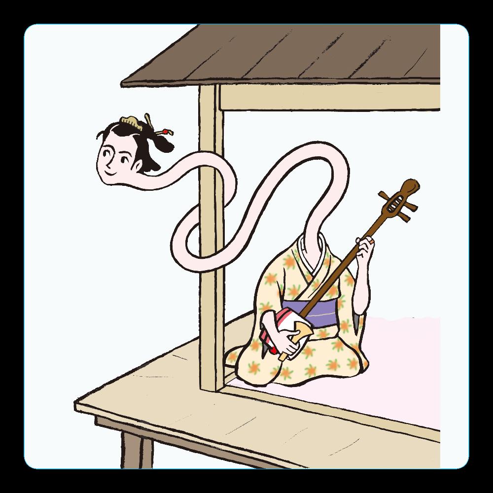 妖怪シリーズ、ろくろっくび アクリルコースター(四角)