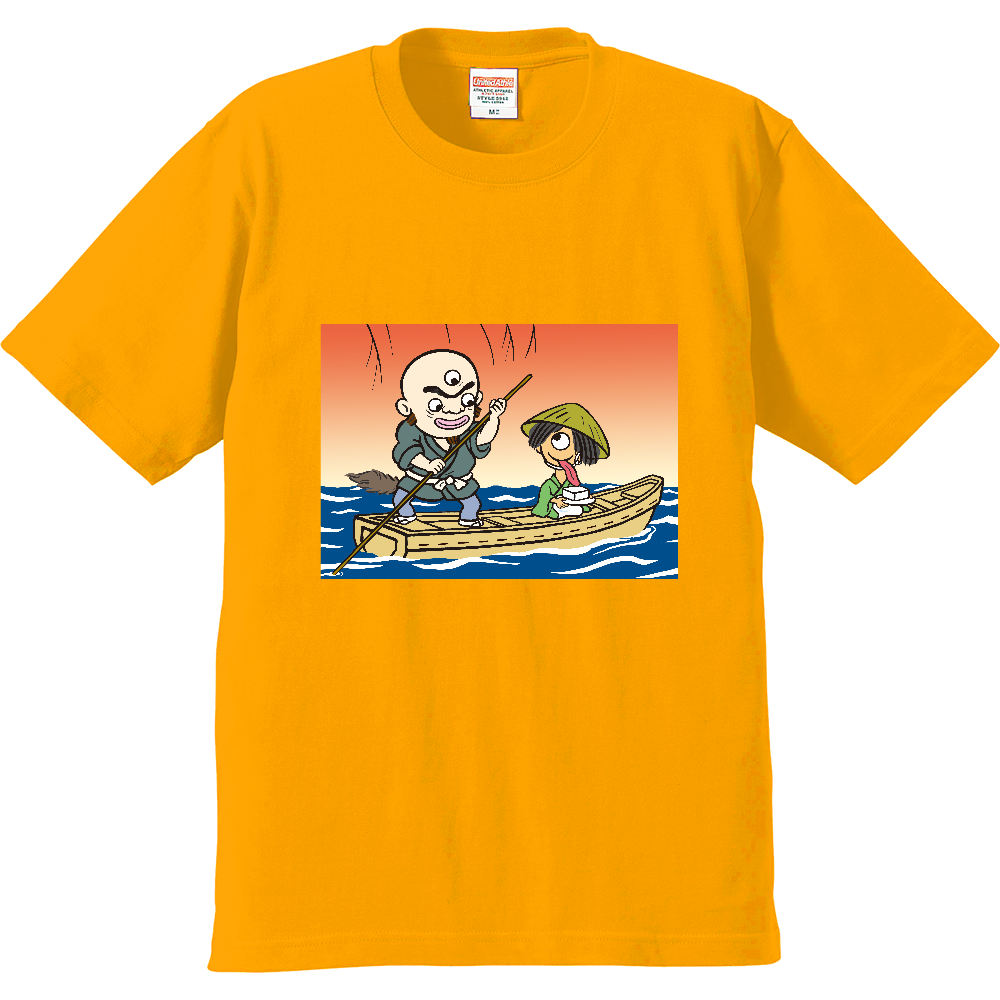 妖怪シリーズ、三つ目入道と豆腐小僧 プレミアムTシャツ