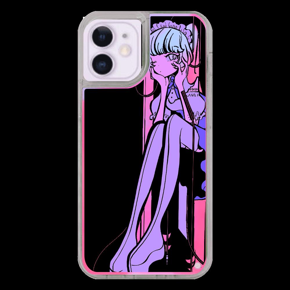 ネオンガールスマホケース iPhone12mini ネオンサンドケース