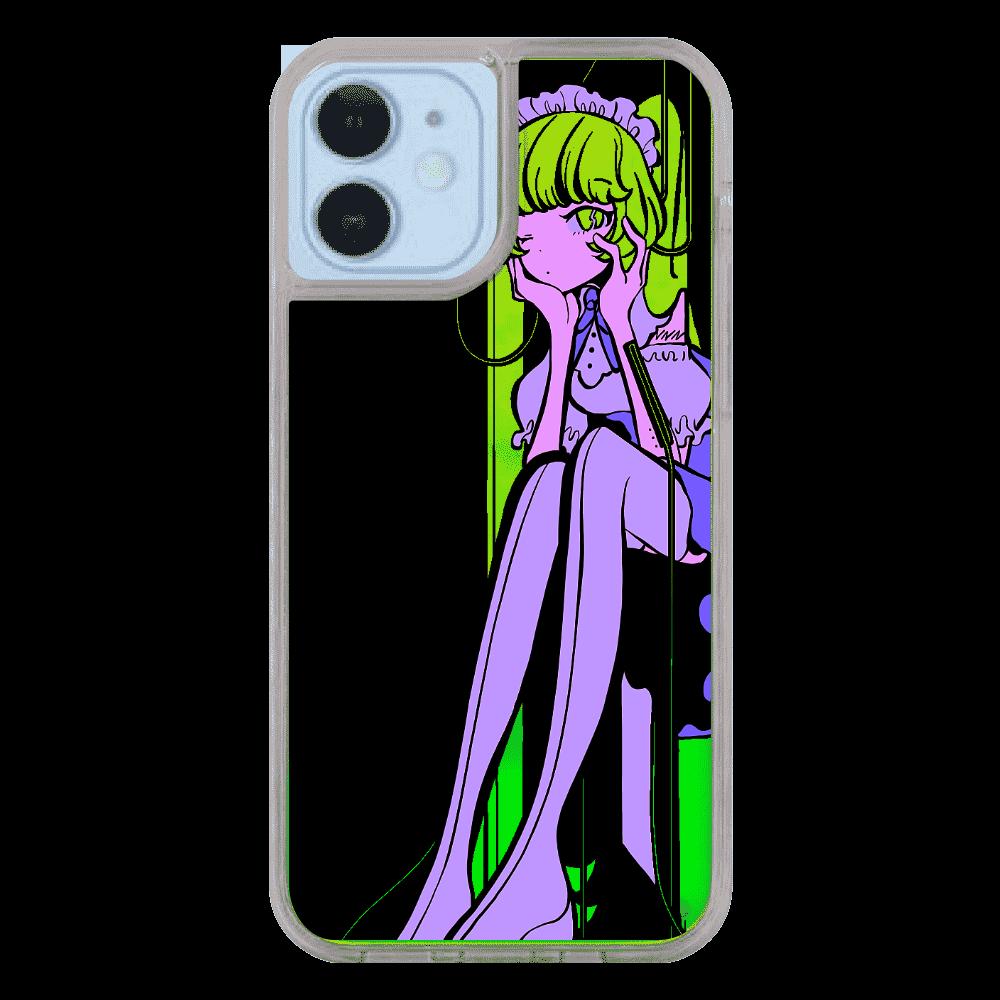 ネオンガールスマホケース iPhone12/12pro ネオンサンドケース