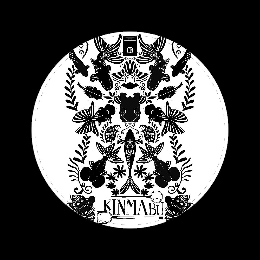 キンギョノマブタ 56㎜缶バッジ