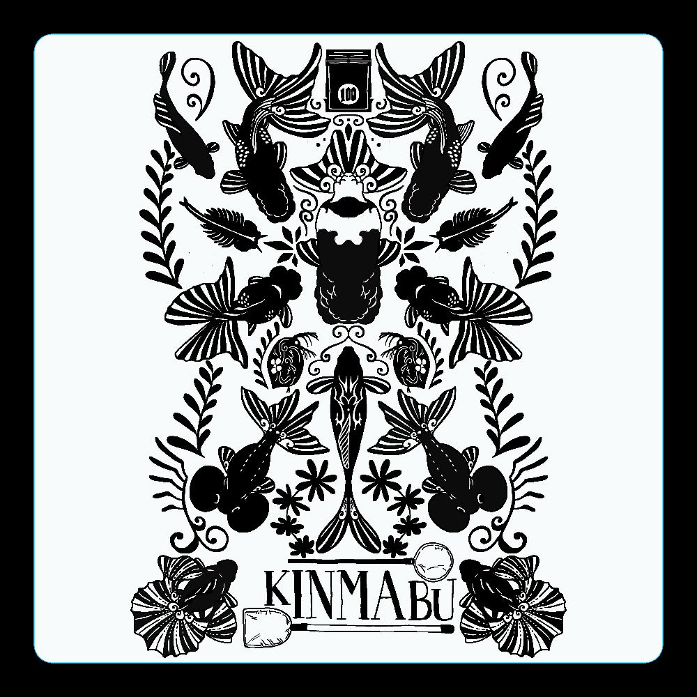キンギョノマブタ アクリルコースター(四角)