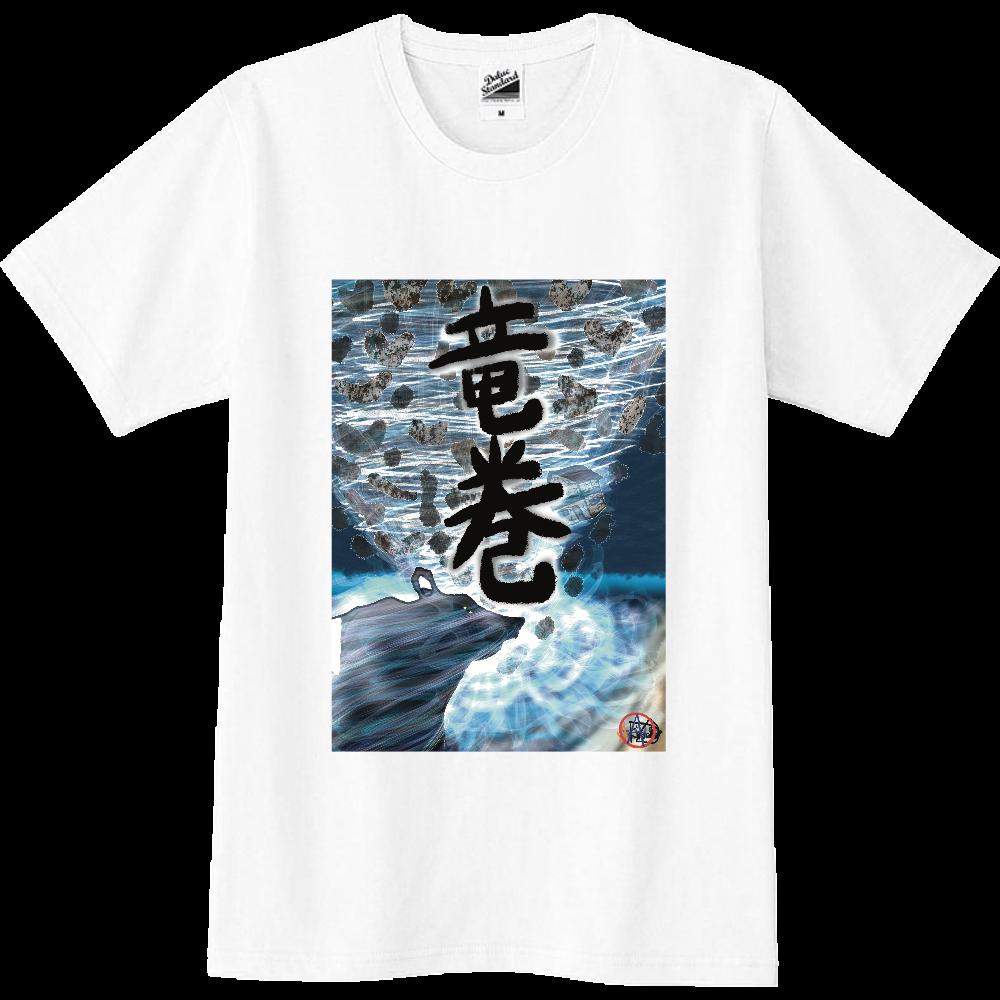 「竜巻」という名の気候変動 ORILAB MARKET.Version.1 スリムTシャツ