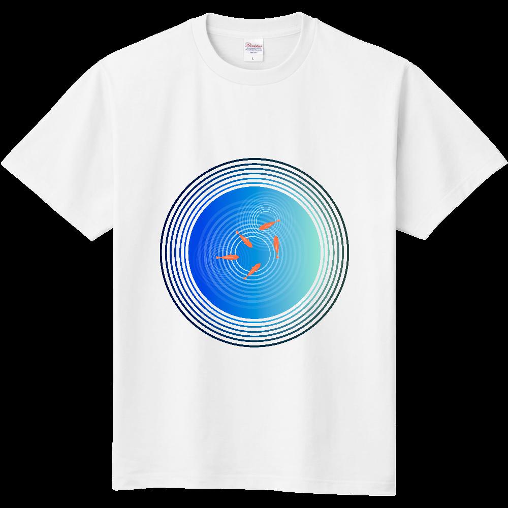 金魚と水面の波紋 定番Tシャツ