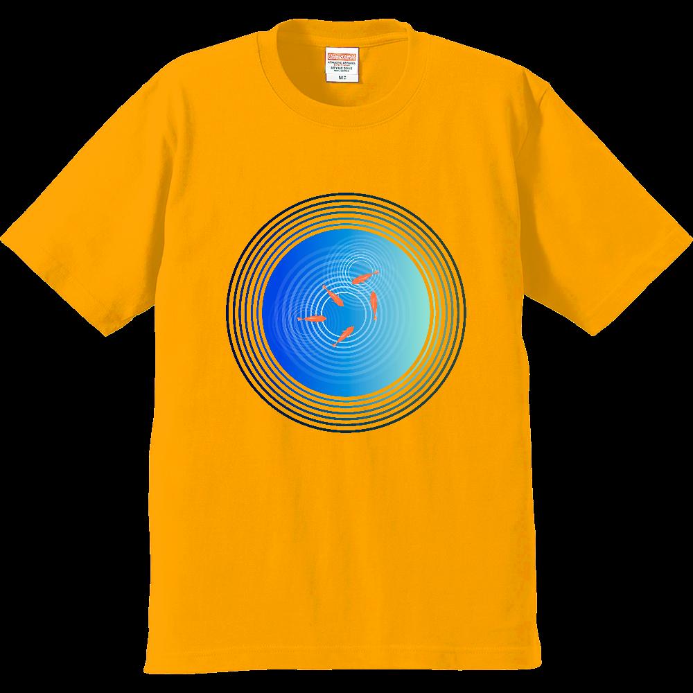 金魚と水面の波紋 プレミアムTシャツ