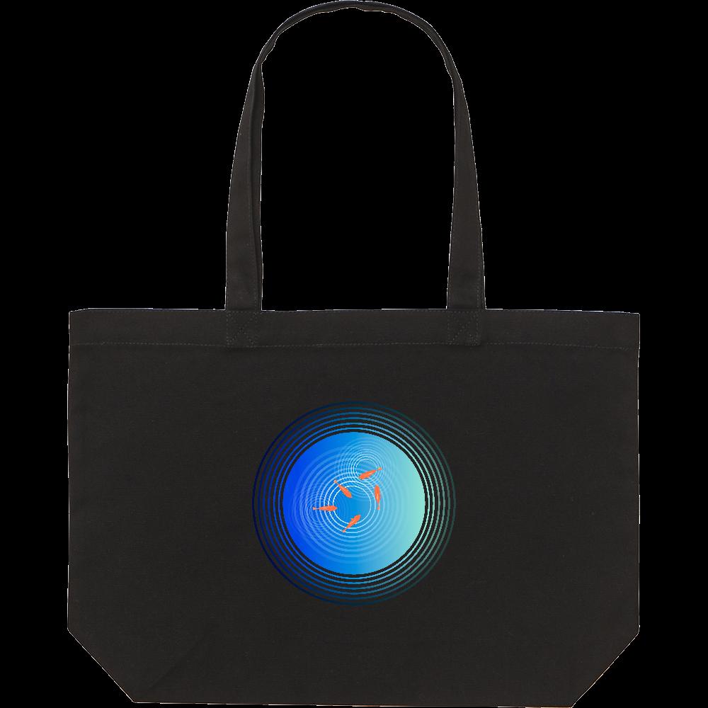 金魚と水面の波紋 スタンダードキャンバストートバッグ(W)