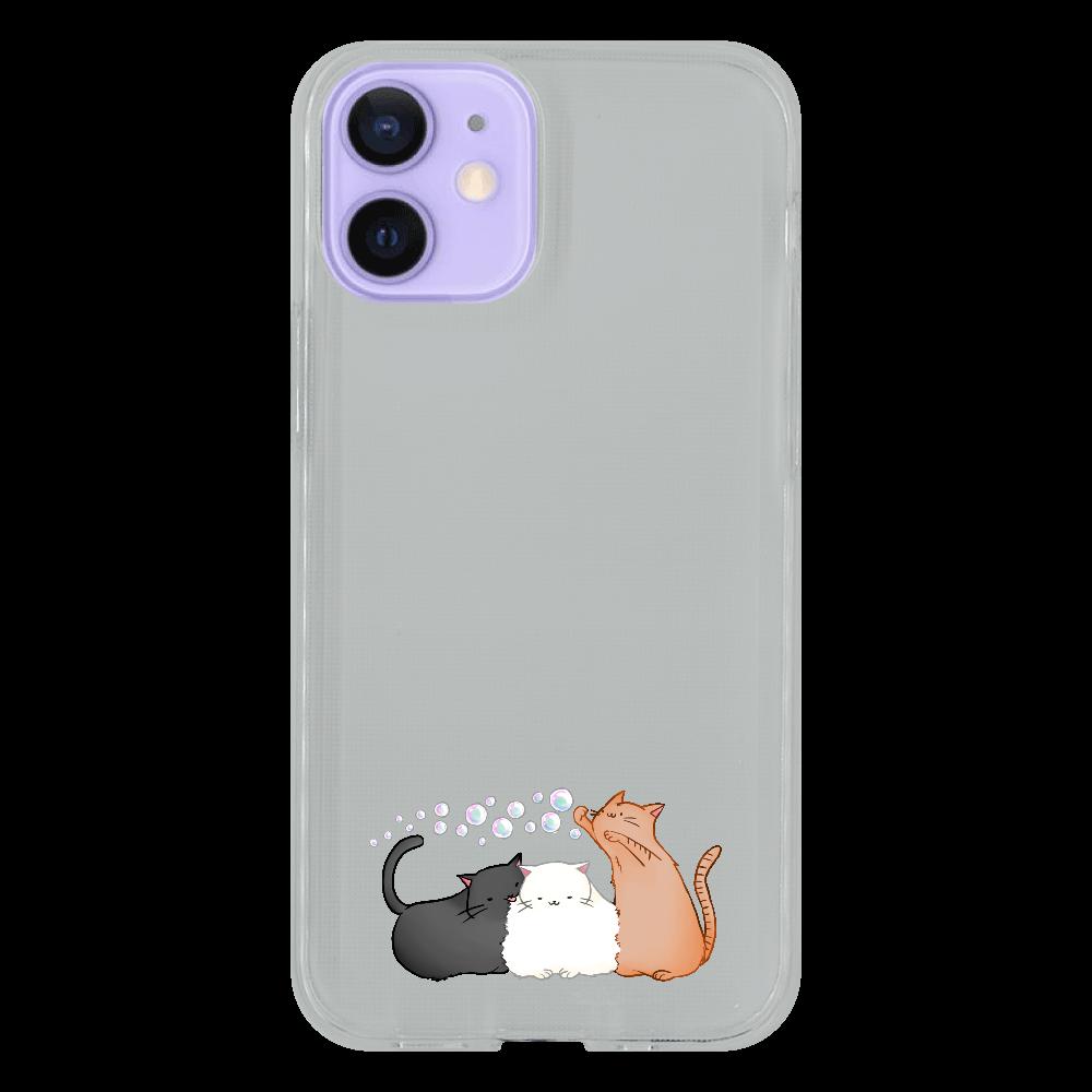 のんびりねこ iPhone12 mini ソフトケース (TPU)