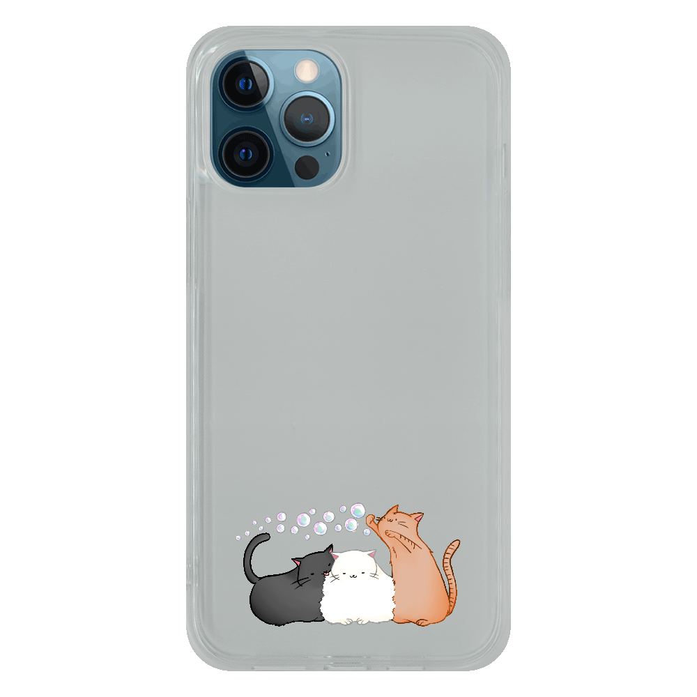 のんびりねこ iPhone12 Pro Max ソフトケース (TPU)