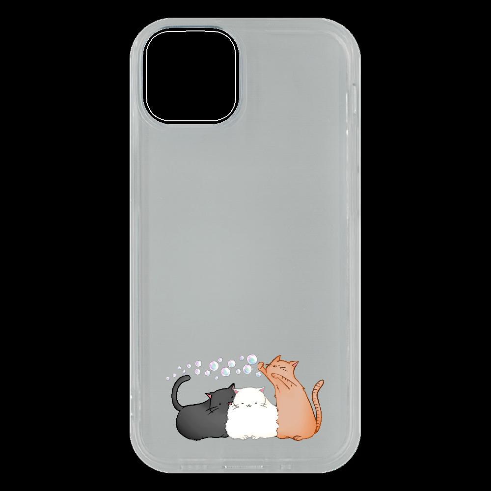 のんびりねこ iPhone13 mini ソフトケース (TPU)