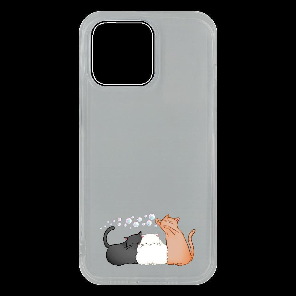 のんびりねこ iPhone13 Pro ソフトケース (TPU)