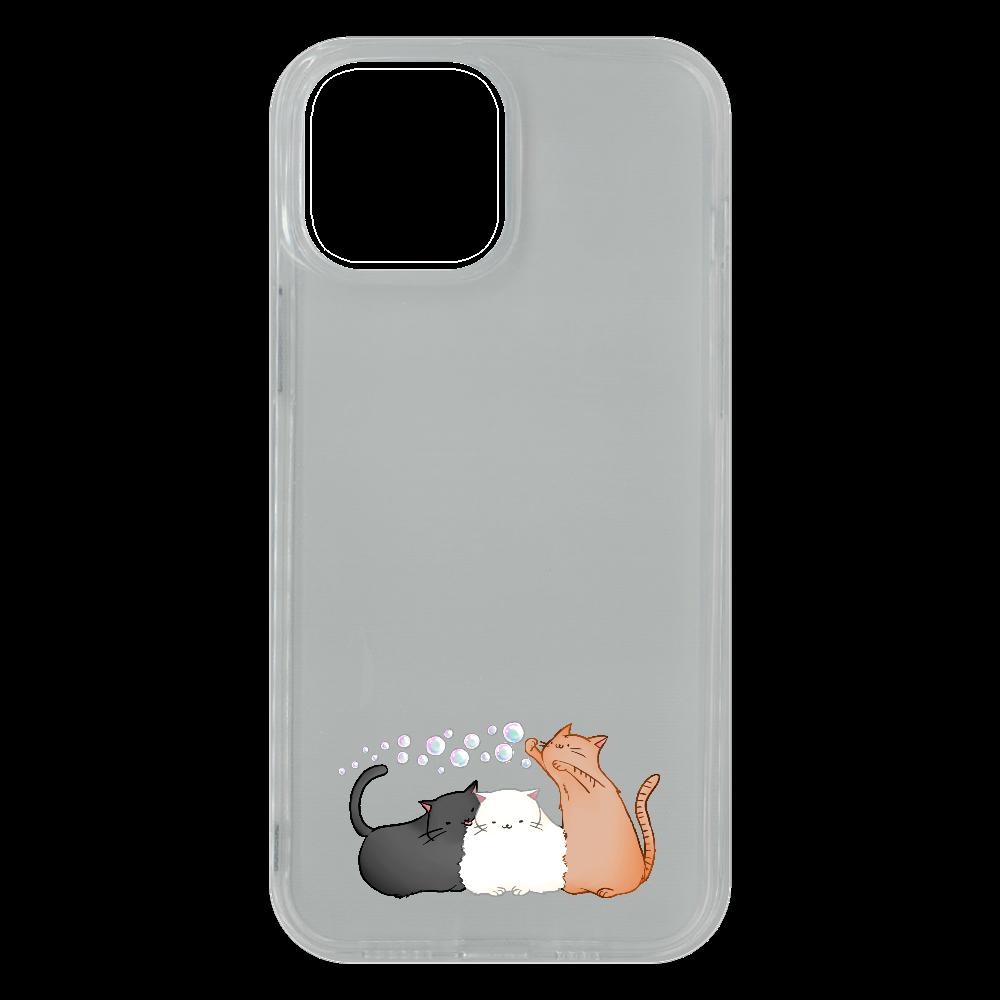 のんびりねこ iPhone13 Pro Max ソフトケース (TPU)