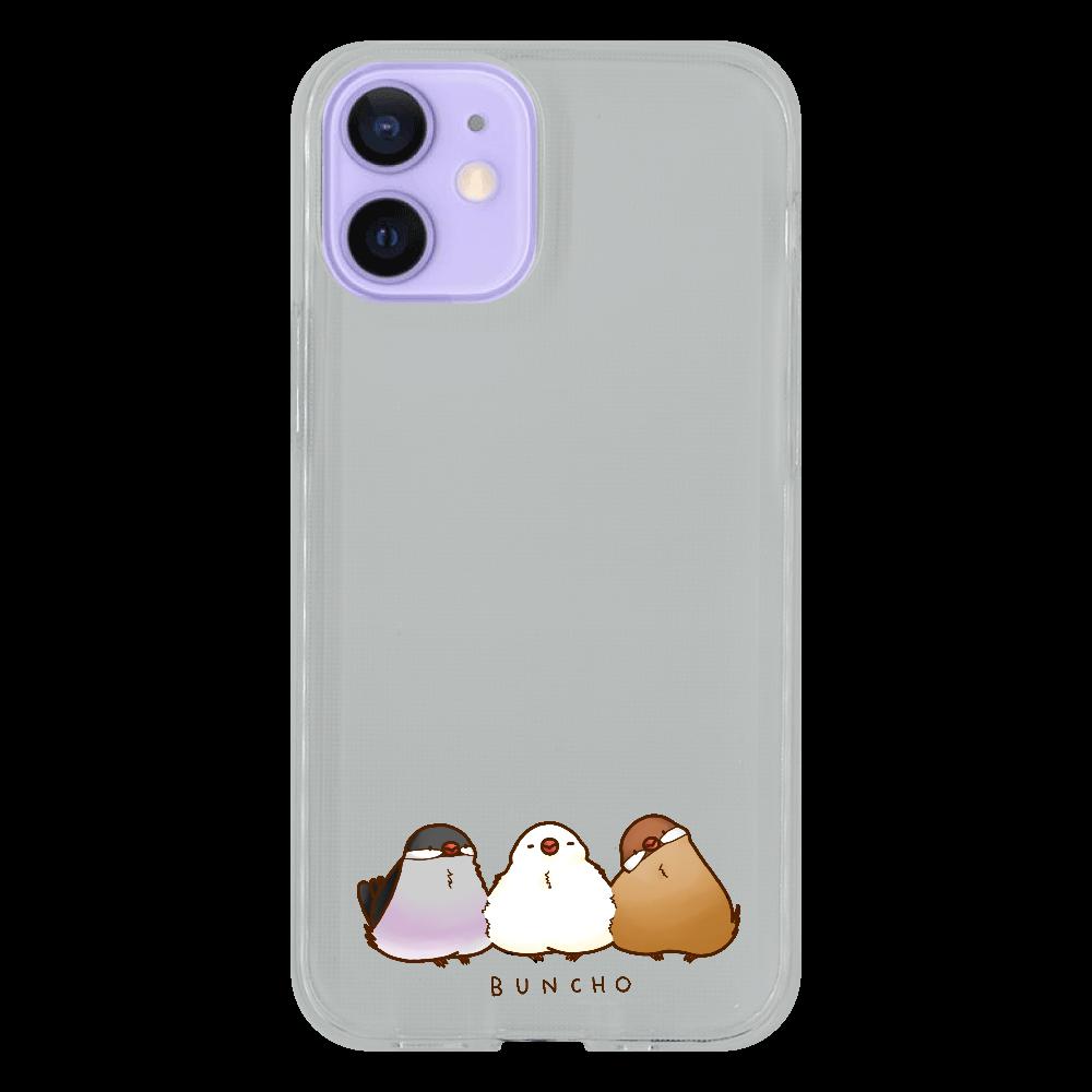 ひっつきもっつき iPhone12 mini ソフトケース (TPU)