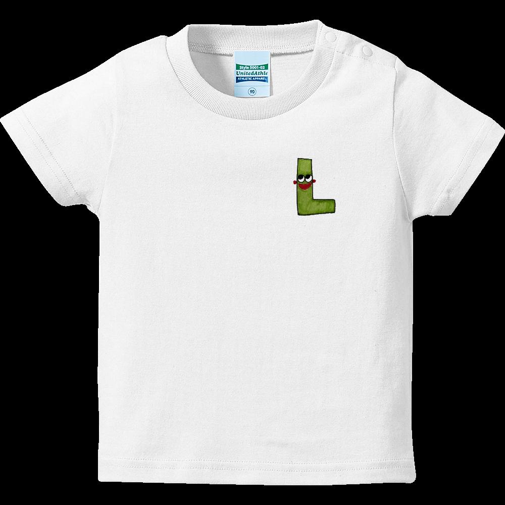 アルファベットTシャツ L ハイクオリティーベビーTシャツ