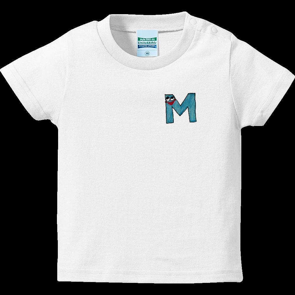 アルファベットTシャツ M ハイクオリティーベビーTシャツ