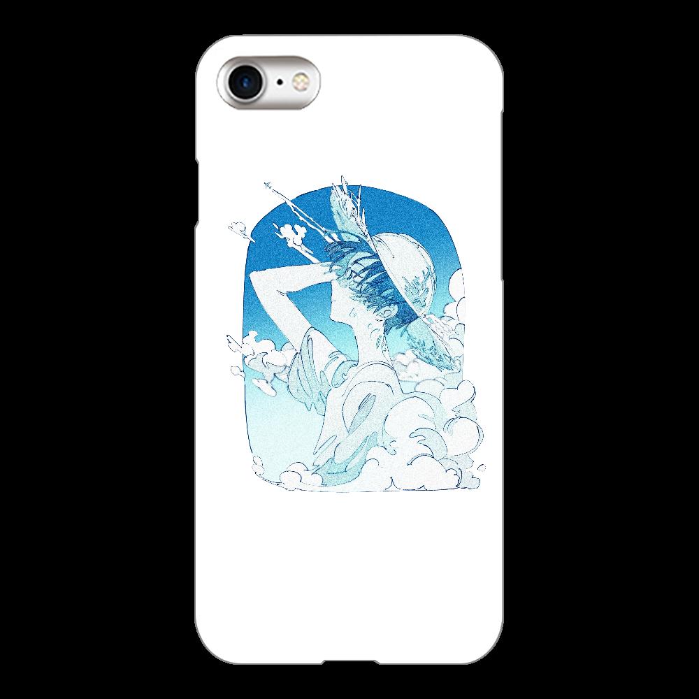 夏の風 スマホケース iPhone8(透明)