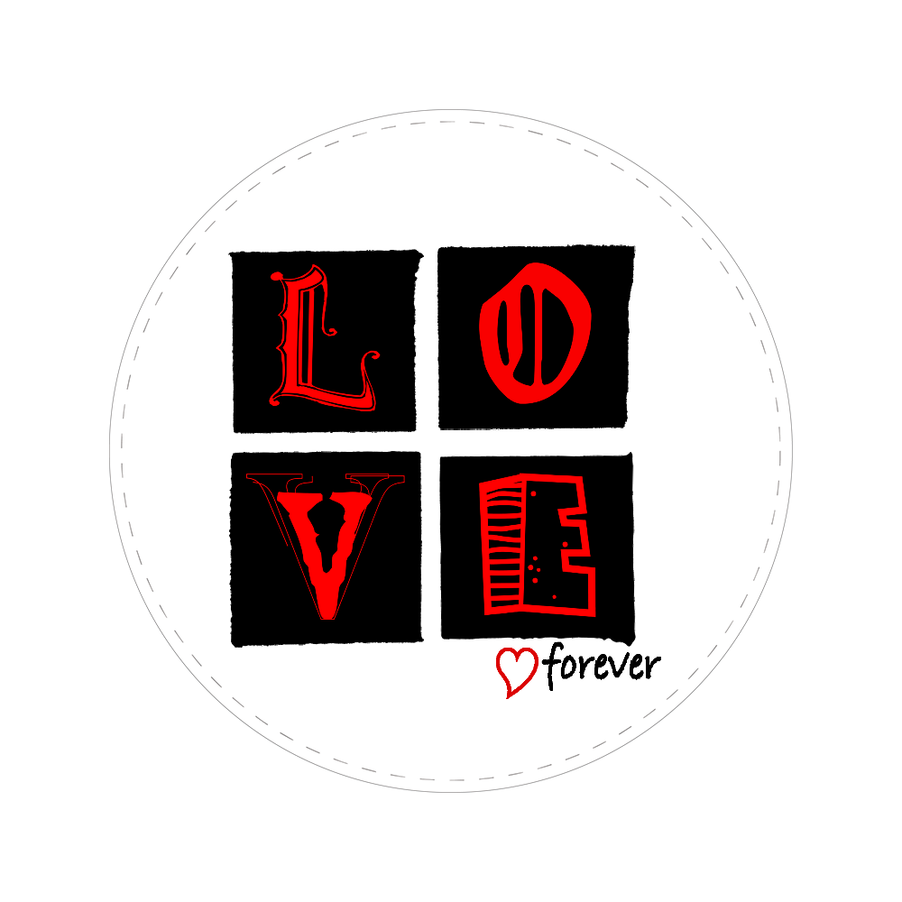 LOVE forever 56㎜缶バッジ