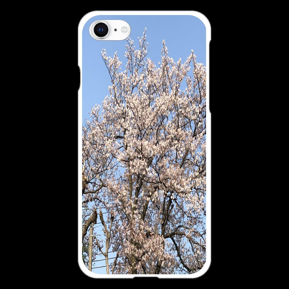 3年前に撮影した桜 スマホケース iphoneSE2(透明)