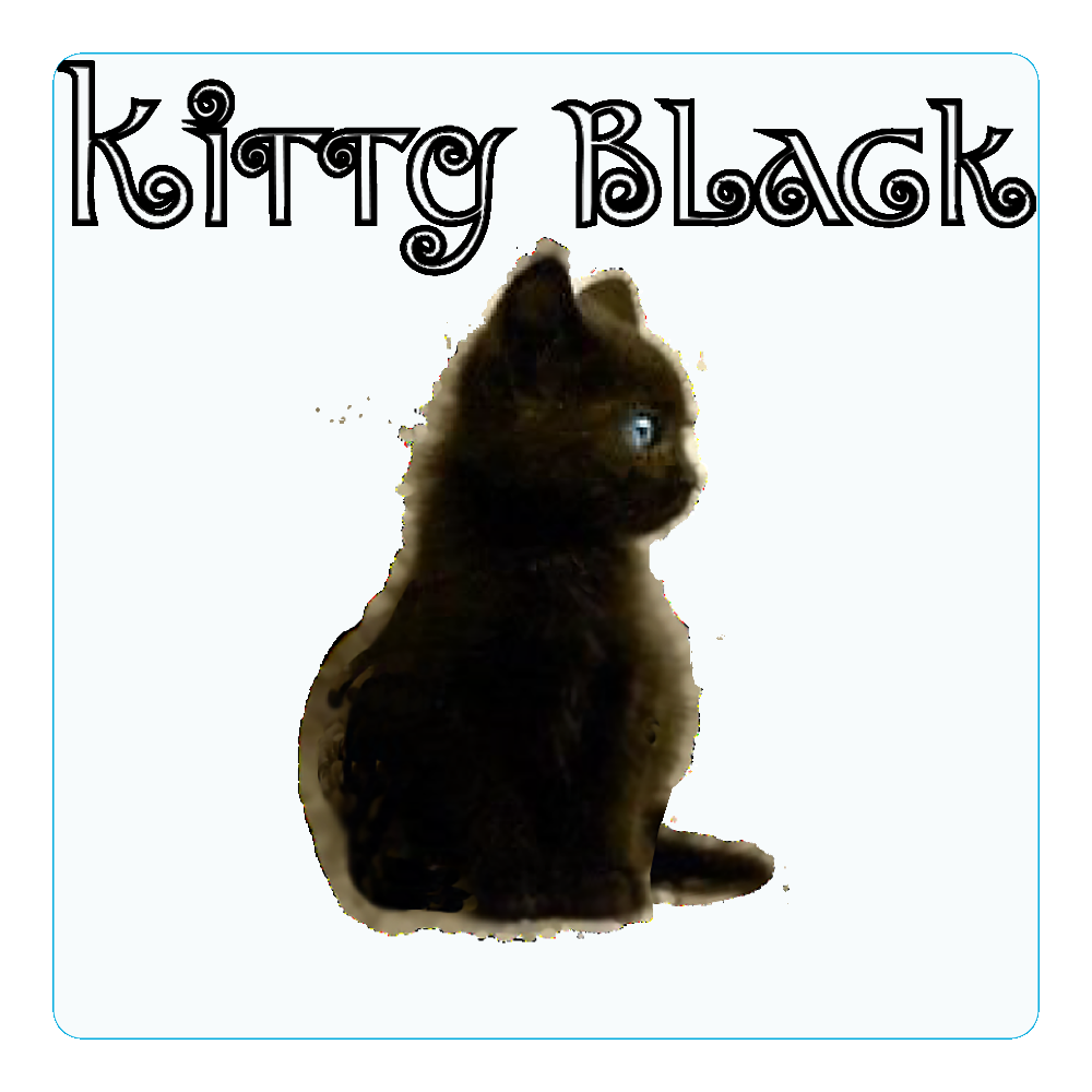 Kitty Black アクリルコースター(四角)