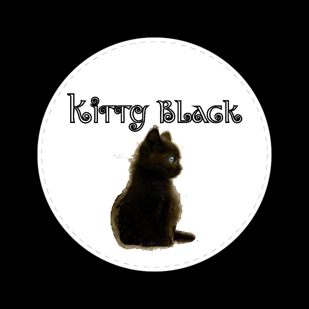 Kitty Black 56㎜缶バッジ