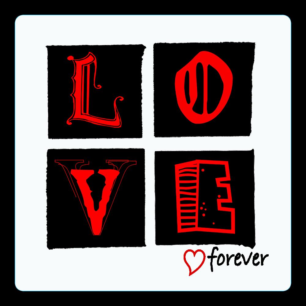 LOVE forever アクリルコースター(四角)