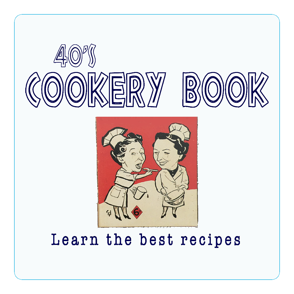 40's Cookery Book アクリルコースター(四角)