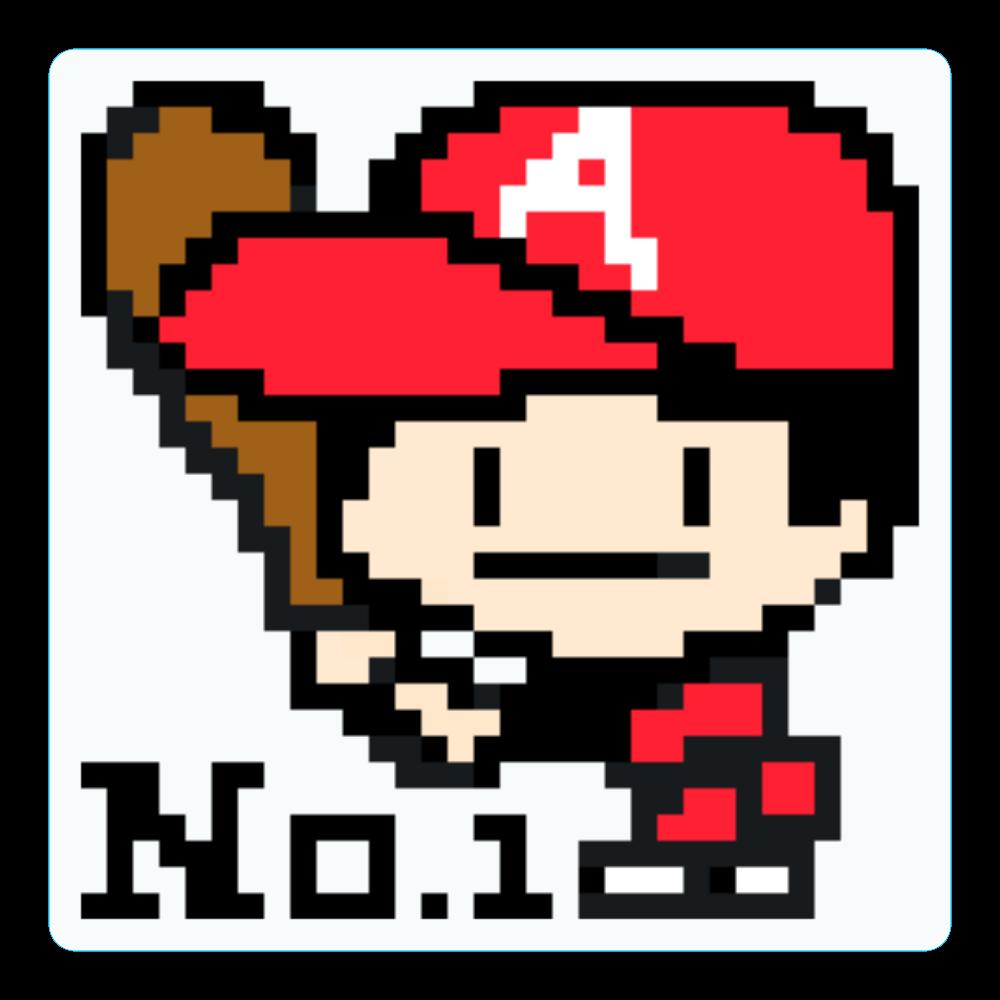 コースター / 野球少年A -ピクセルアート- アクリルコースター(四角)