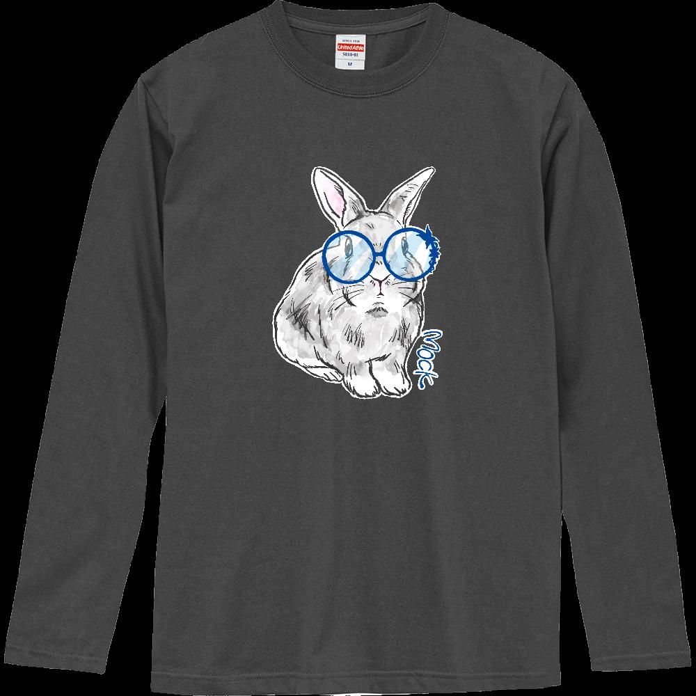 ラフなうさぎのモック メガネver. ロングスリーブTシャツ