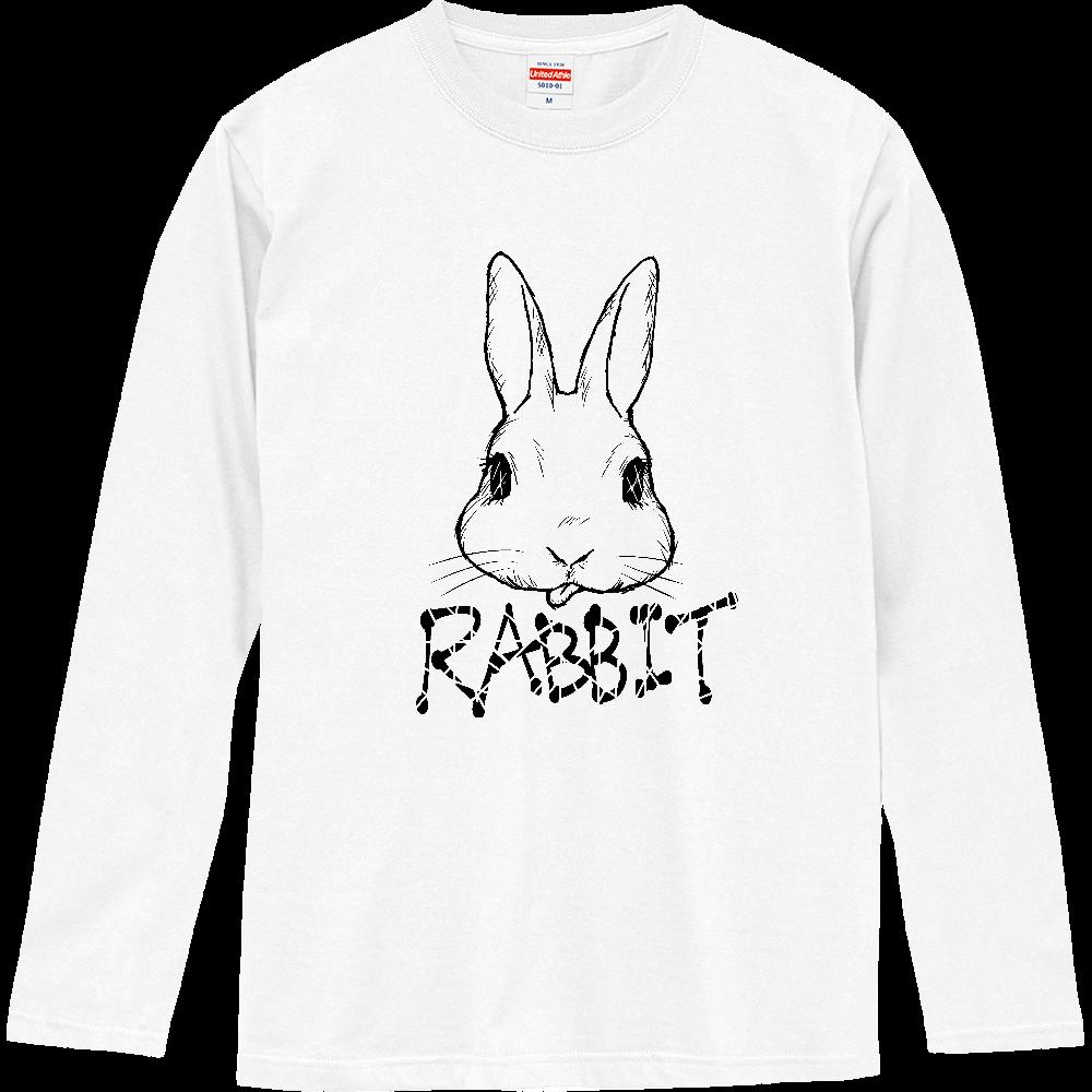RABBIT BLACK ロングスリーブTシャツ
