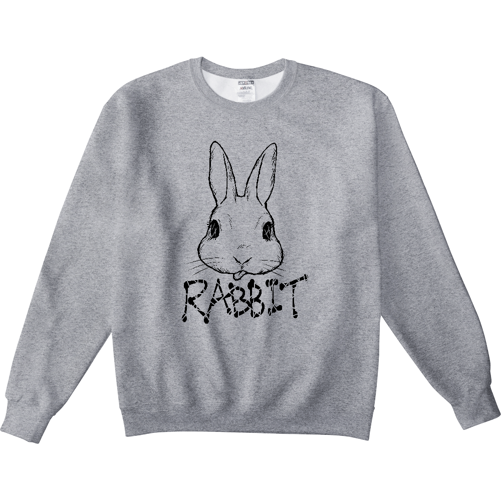RABBIT BLACK NUBLENDスウェットシャツ
