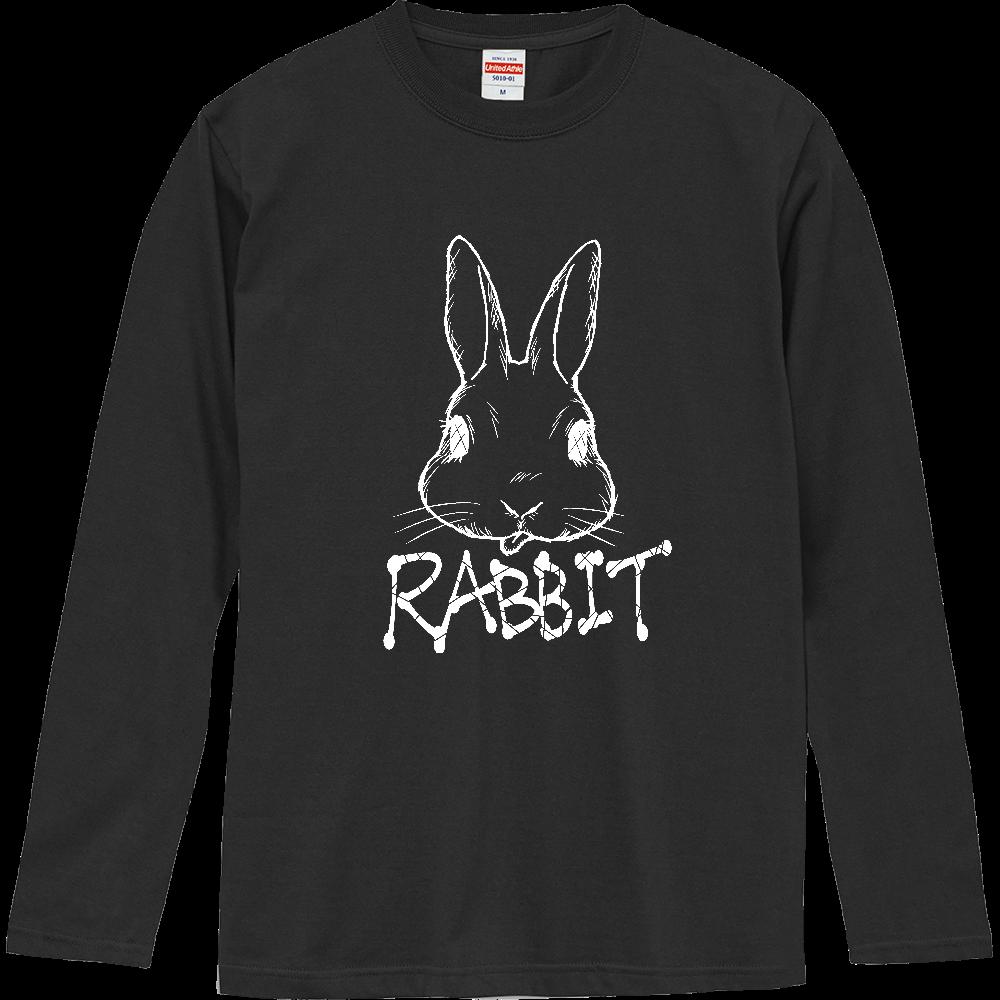 RABBIT WHITE ロングスリーブTシャツ