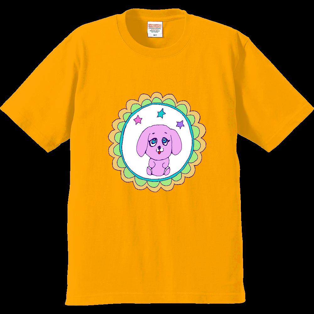 昭和レトロポップでデザイン「ピンクのワンちゃん」 プレミアムTシャツ