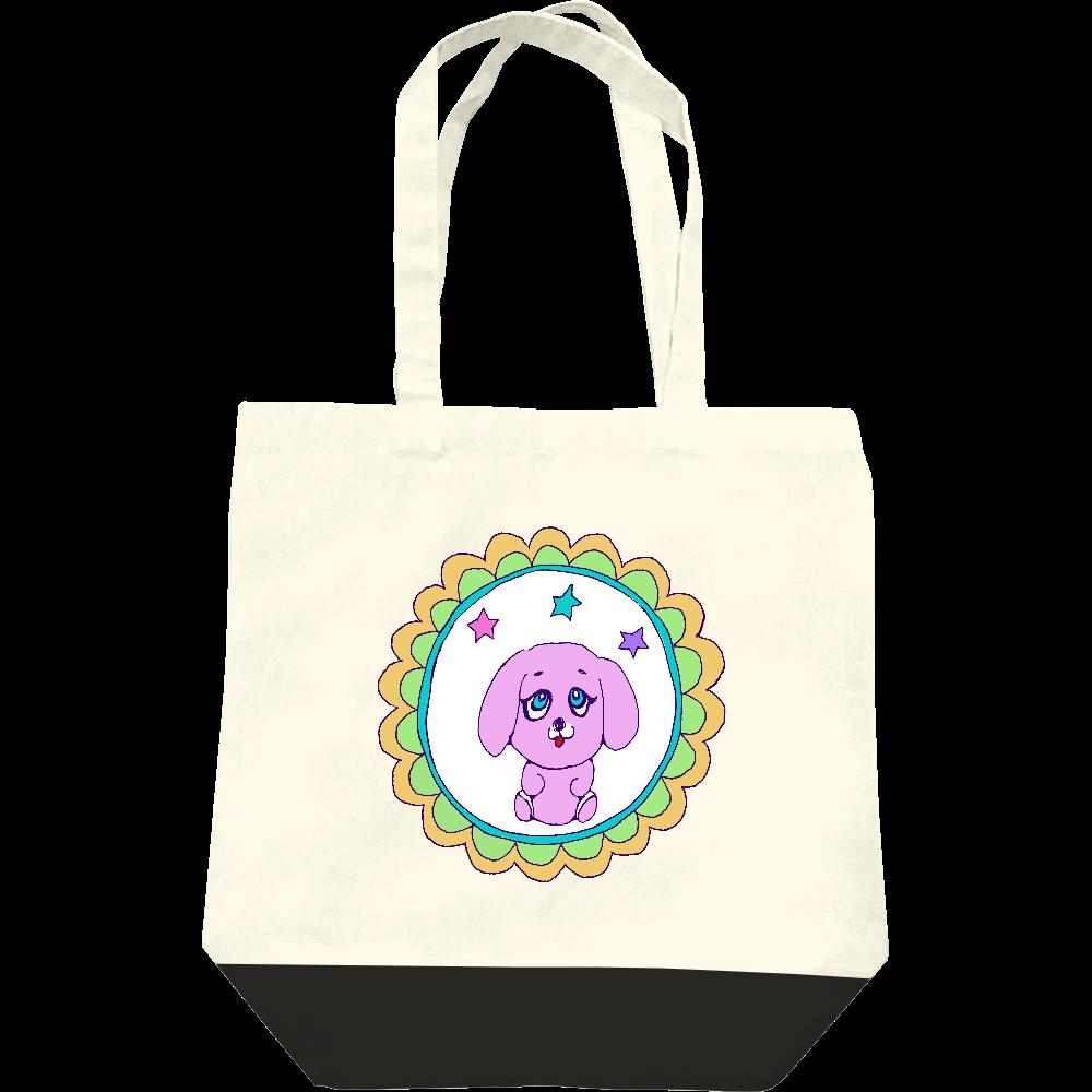 昭和レトロポップでデザイン「ピンクのワンちゃん」 レギュラーキャンバストートバッグ(M)