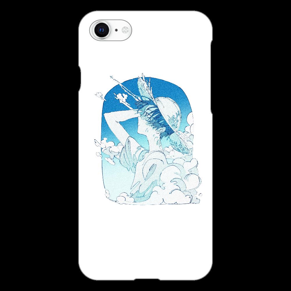 夏の風 スマホケース iphoneSE2(透明)