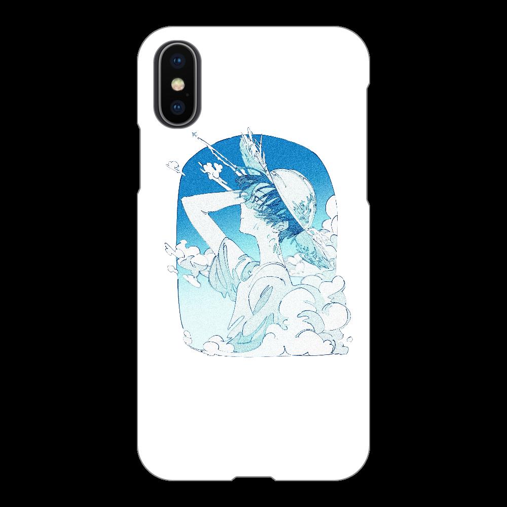 夏の風 スマホケース iPhoneX/Xs(透明)