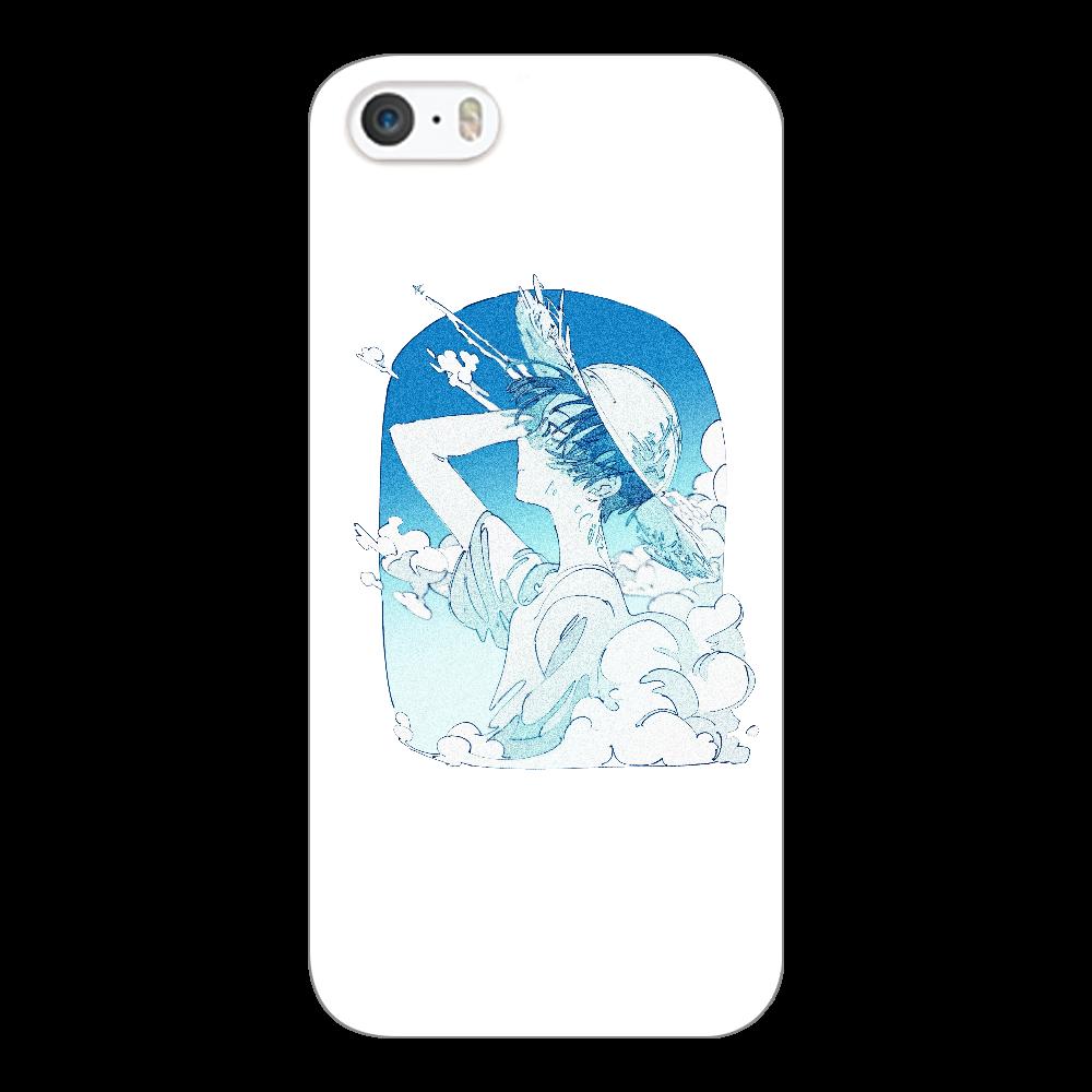 夏の風 スマホケース iPhone5/5s/SE(透明)
