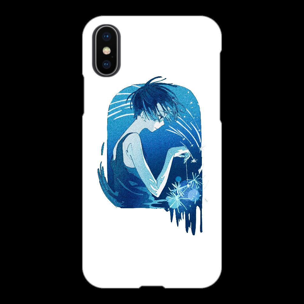 夏の星 スマホケース iPhoneX/Xs(透明)