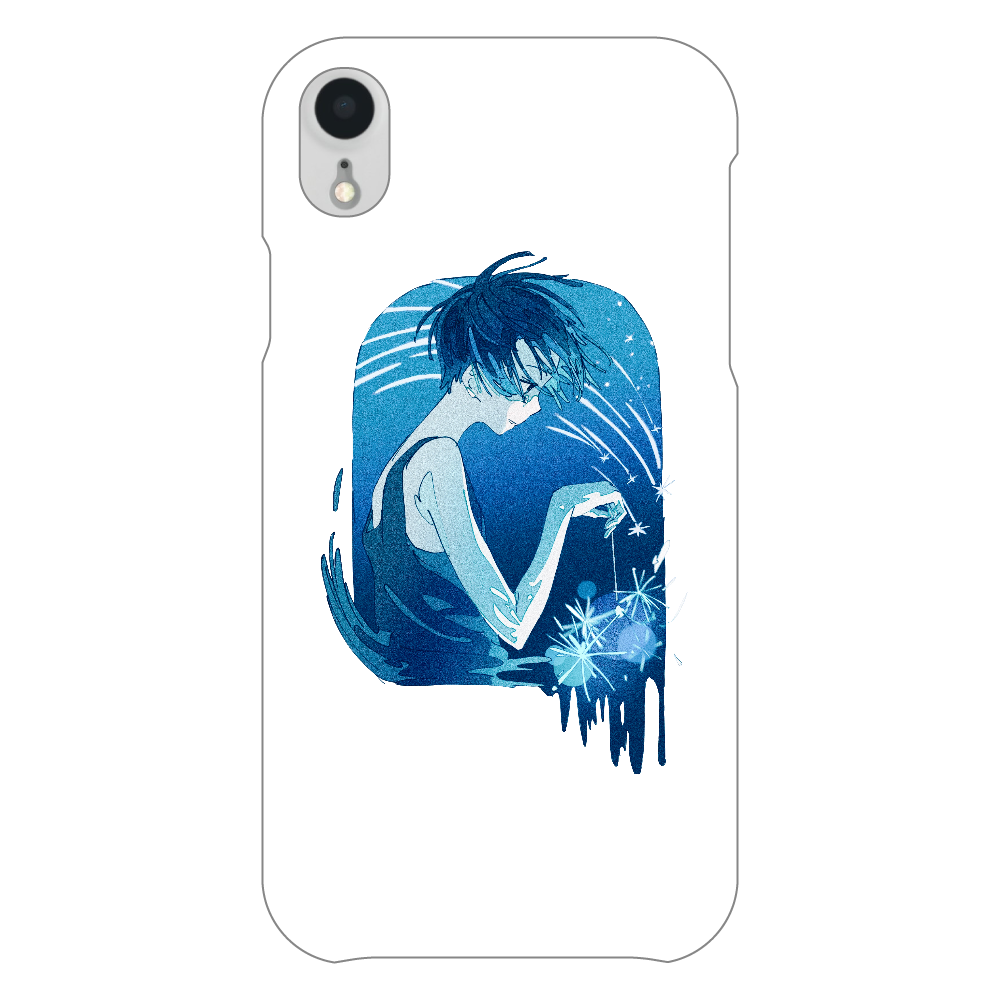 夏の星 スマホケース iPhoneXR(透明)
