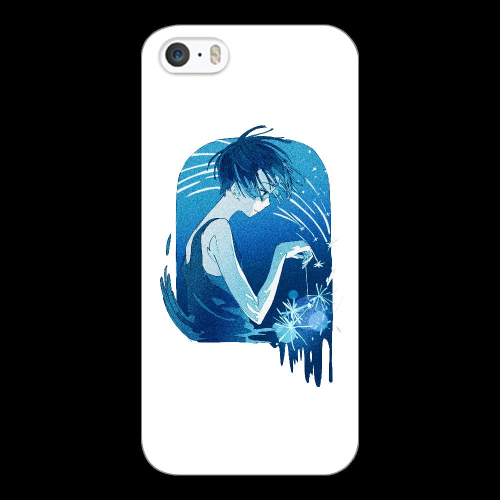 夏の星 スマホケース iPhone5/5s/SE(透明)