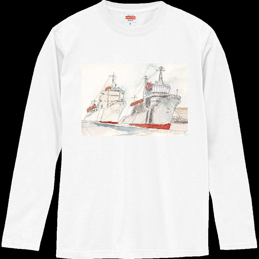 港の風景 ロングスリーブTシャツ