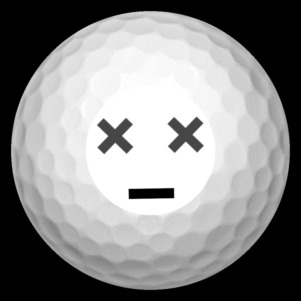 顔文字デザインゴルフボール(^^) ゴルフボール(3個セット)